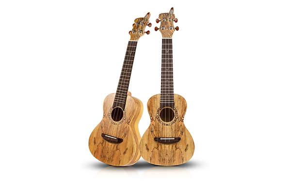 JC-102  Spaulted Maple Ukulele